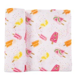 Mud Pie Mud Pie Muslin Popsicle Swaddle Blanket 47x47