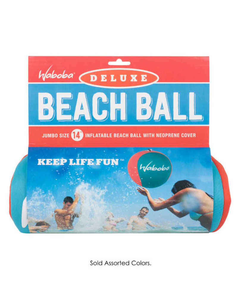 """Waboba Waboba Deluxe Beach Ball 14""""  Assorted Colors"""