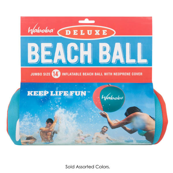 "Waboba Waboba Deluxe Beach Ball 14""  Assorted Colors"