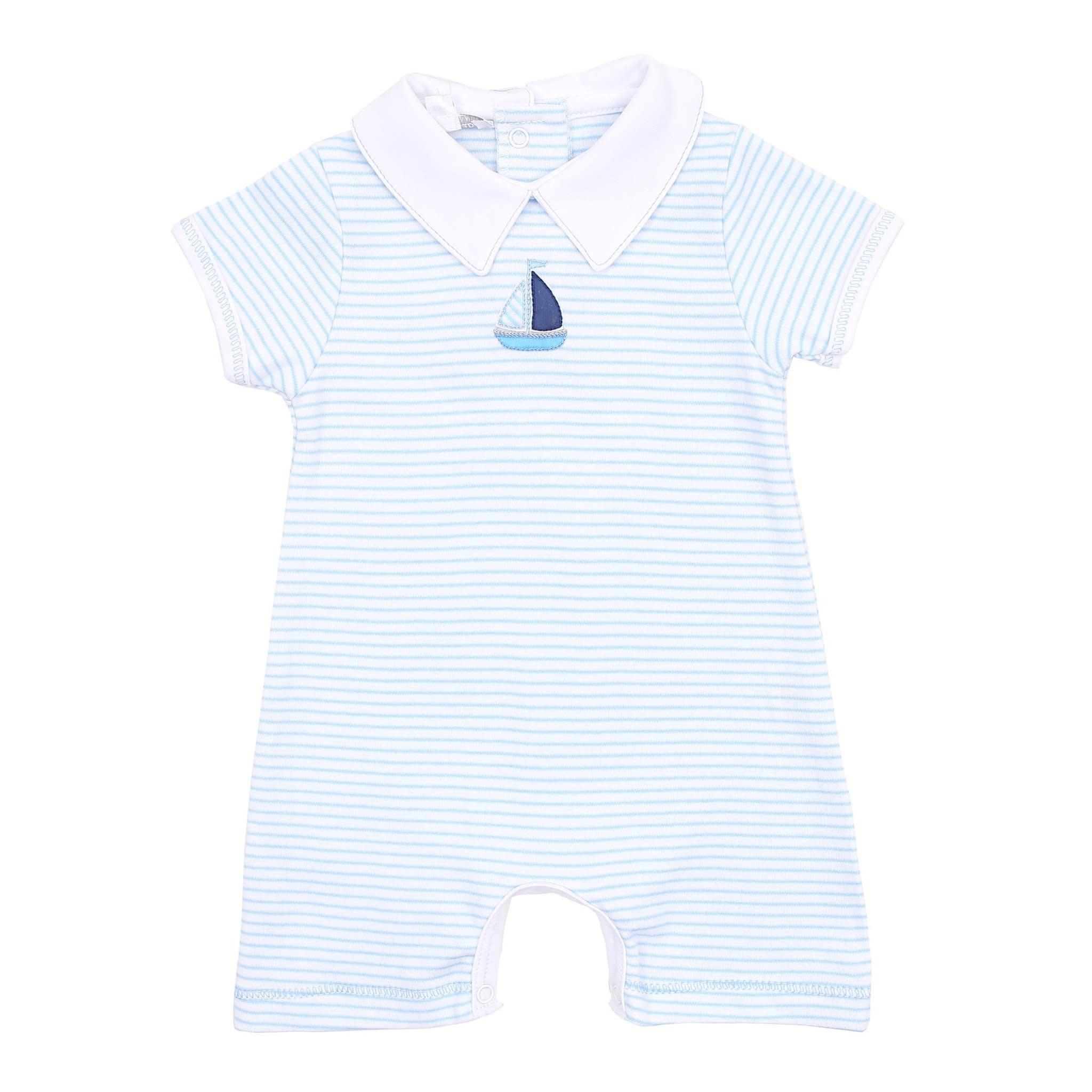 Magnolia Baby Magnolia Baby Sailor Collared Short Playsuit