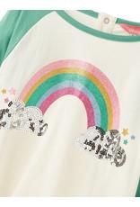 Joules Joules Lorna Glitzy Rainbow Raglan Top