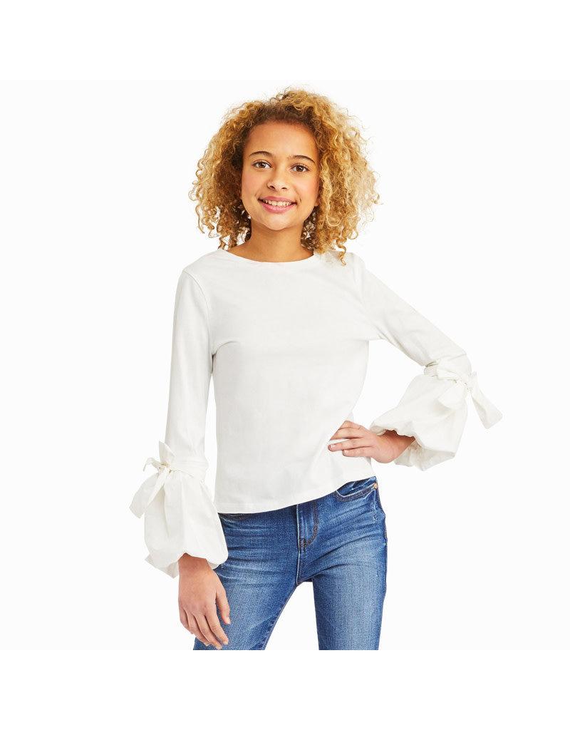 Habitual Girl Habitual Girl Peyton Jersey Knit/Woven Top