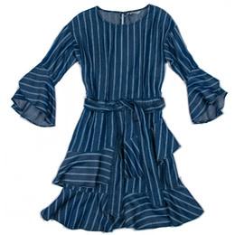 Habitual Girl Habitual Girl Serena Stripe Tencel Dress