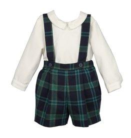 Maria Casero Maria Casero Boy Suspender Short w/ Shirt