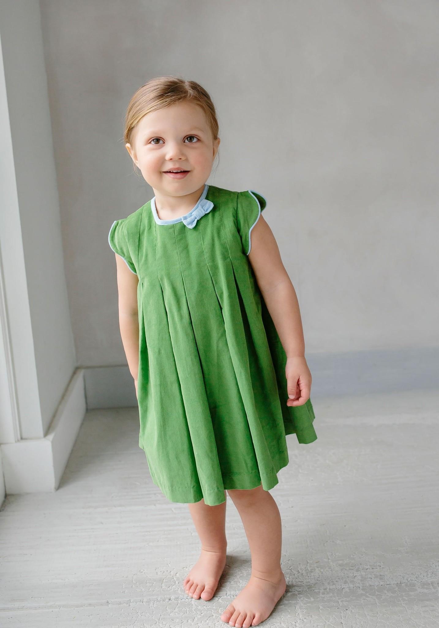 Little English Little English Pleats Bow Dress
