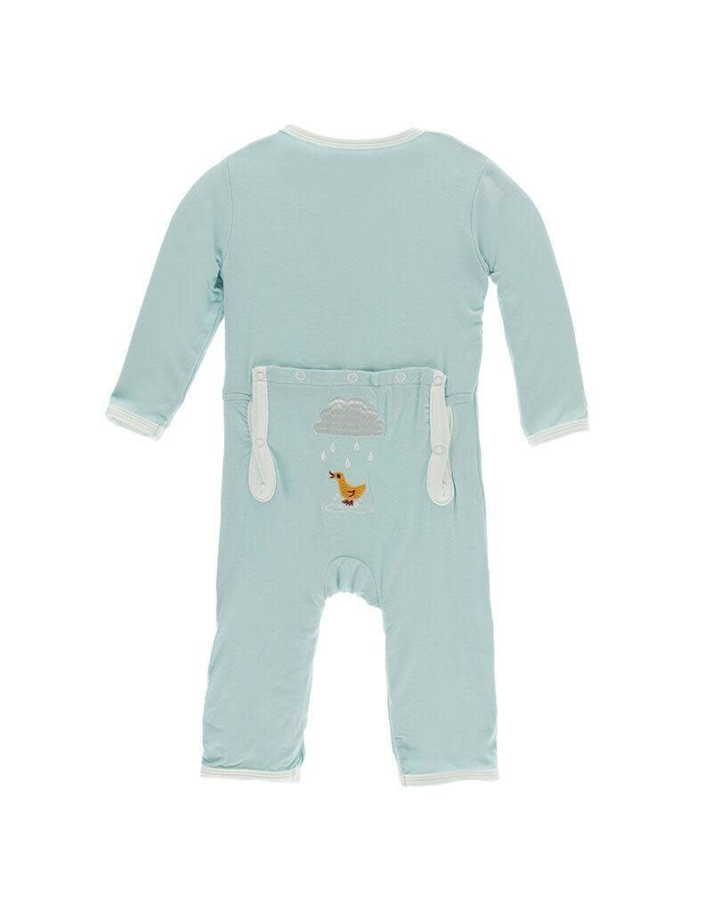 KicKee Pants Kickee Pants Applique Coverall w/Zipper