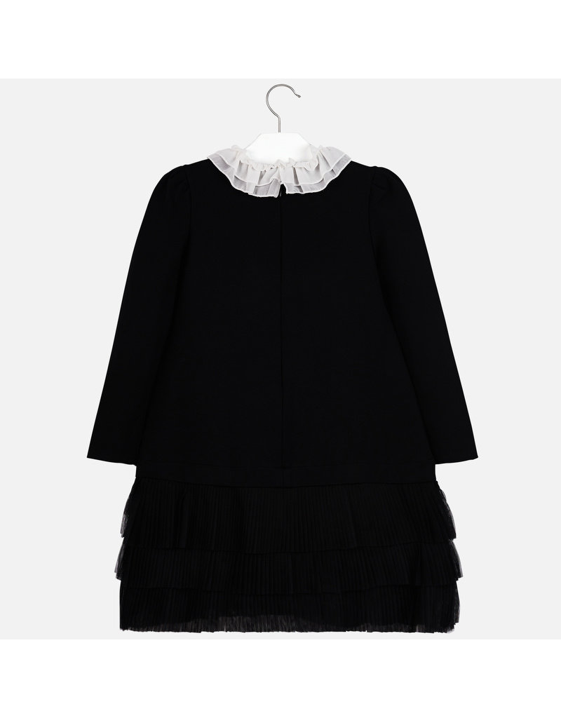 Mayoral Mayoral Knit Dress with White Ruffle Collar