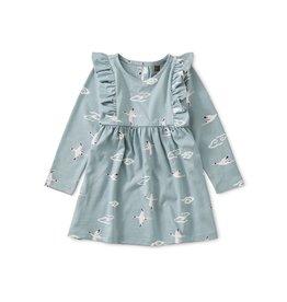 Tea Collection Tea Collection Crane Cloud Ruffled Baby Dress