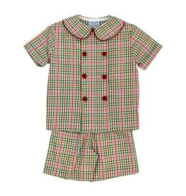 Bailey Boys Bailey Boys Mistletoe Plaid Dressy Short Set Toddler