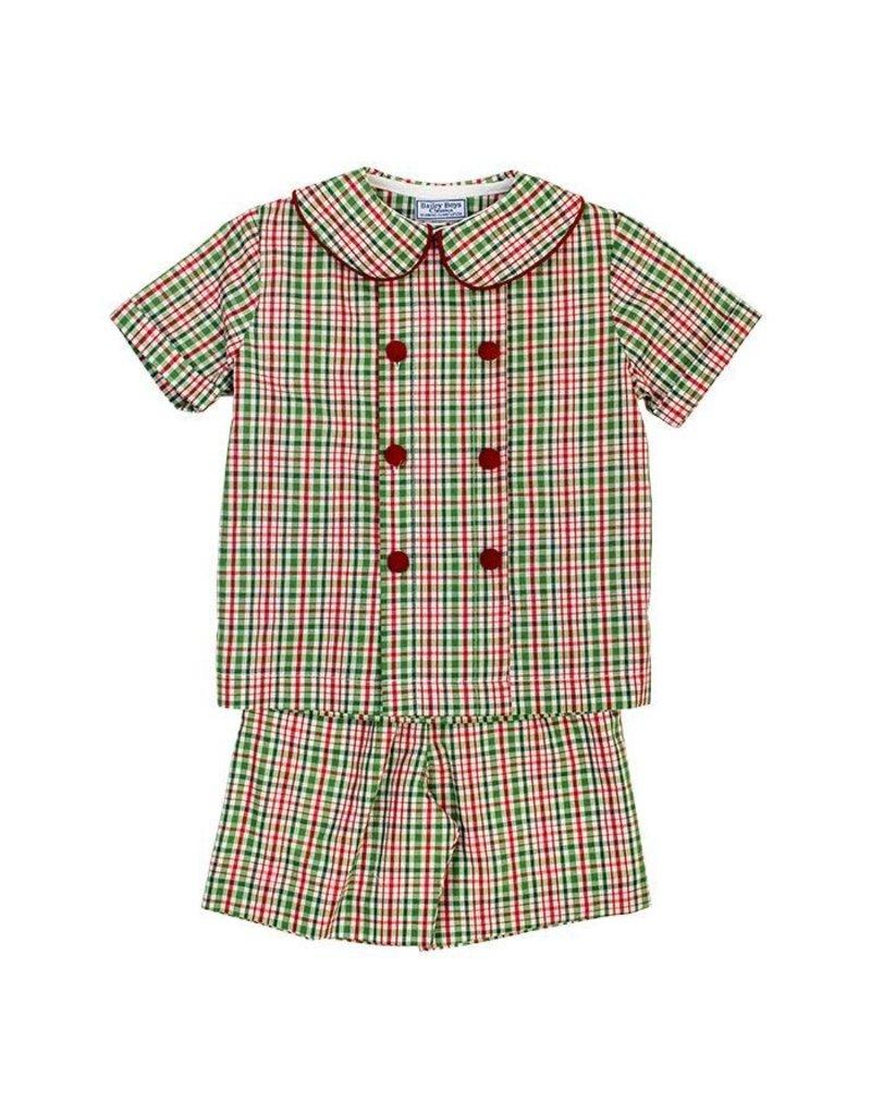 Bailey Boys Bailey Boys Mistletoe Plaid Dressy Short Set Boy