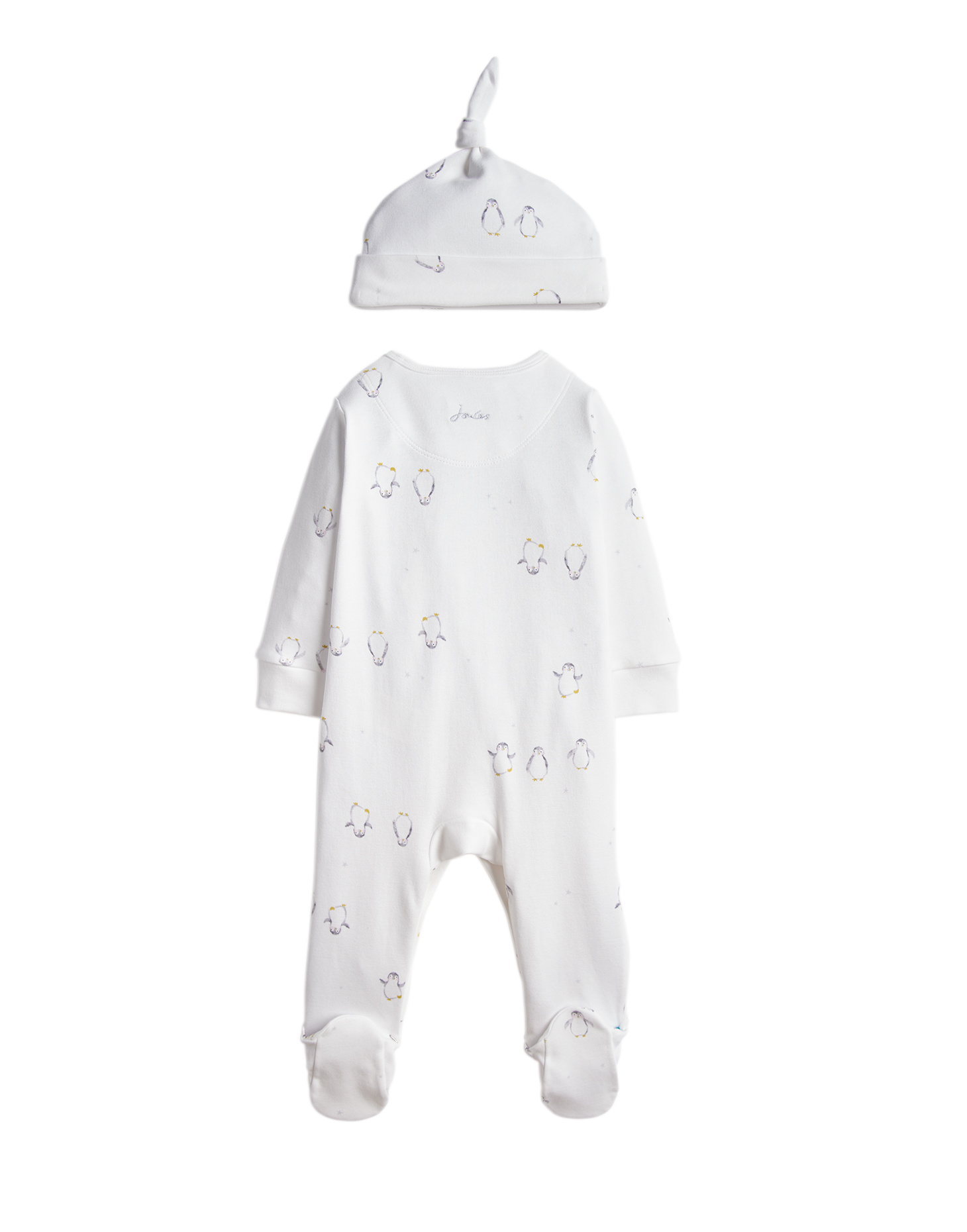 Joules Joules Yule Printed Babygrow and Hat Set