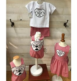 Magnolia Steel Magnolia Steel Red Gingham Bulldog Outfit
