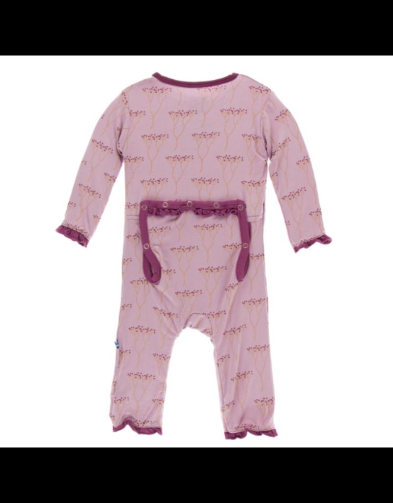 KicKee Pants Kickee Pants Print Muffin Ruffle Coverall-Snaps