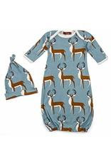 Milkbarn LLC Milkbarn Gown & Hat Set