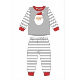 Jane Marie Jane Marie Kids Santa Grey Stripe Pajama