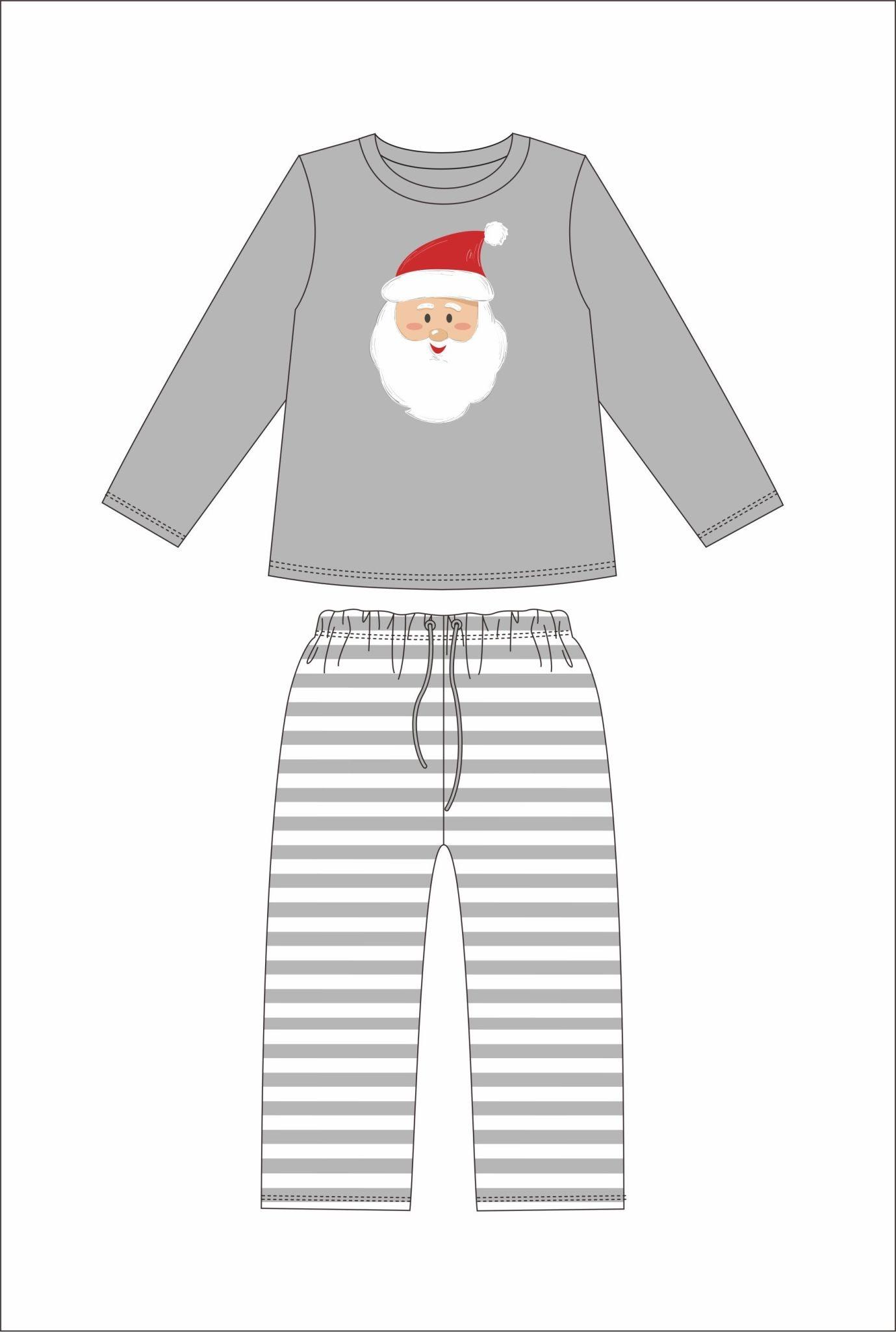 Jane Marie Jane Marie Santa Grey Stripe Pajama