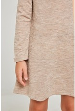 Hayden Los Angeles Hayden LA Long Sleeve Almond Heathered Ribbed Dress