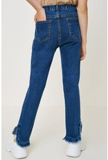 Hayden Los Angeles Hayden LA Distressed Ruffle Hem Jeans
