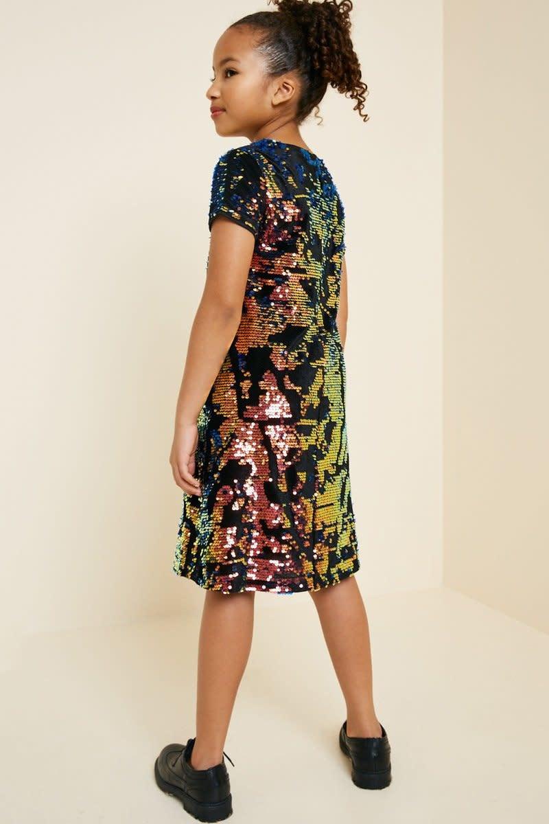 Hayden Los Angeles Hayden La Reversible Sequin Velvet Shift Dress