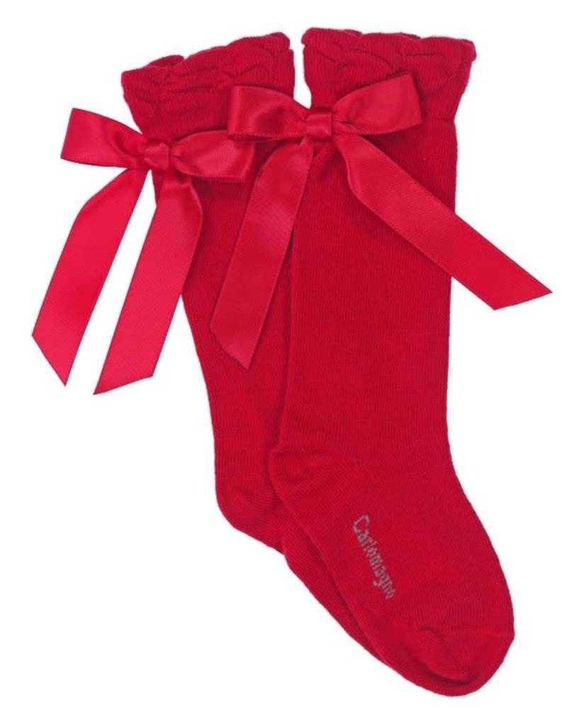 Carlomagno Carlomagno Knee High Bow Socks
