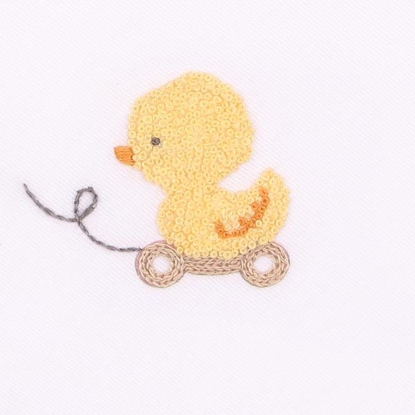 Magnolia Baby Magnolia Baby Tiny Rubber Ducky Gathered Gown