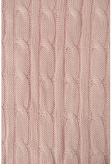 Apple Sauce Apple Sauce Pink Cable Knit Blanket