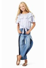 Habitual Girl Habitual Girl Colby Tie Front Flounce Top