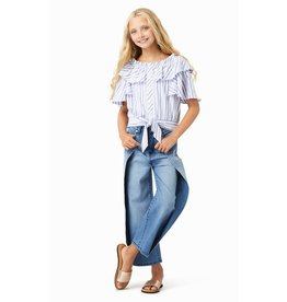 Habitual Girl Habitual Girl Colby Tie Front Flounce Top