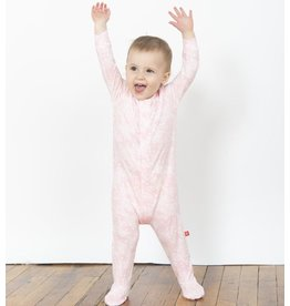 Magnificent Baby Magnificent Baby Modal Pink Doeskin Footie