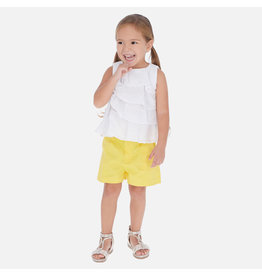 Mayoral Mayoral Satin Yellow Shorts