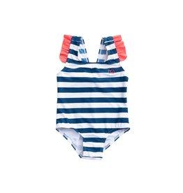 Prodoh Prodoh Bow Back Striped Swimsuit