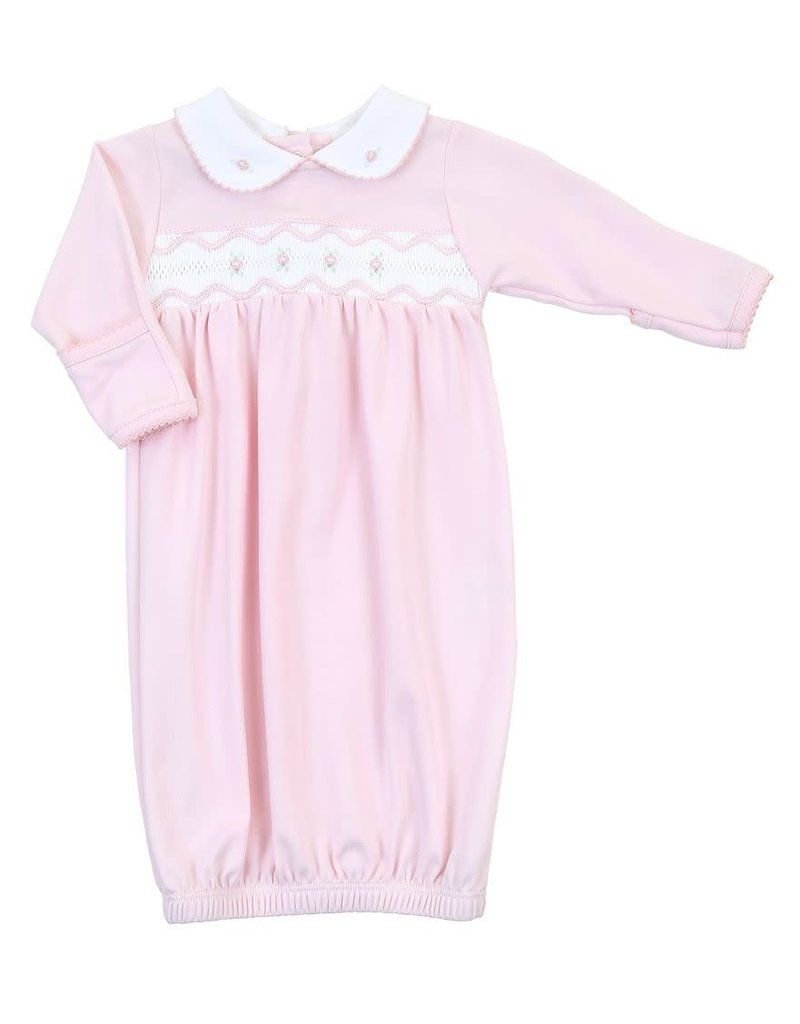 Magnolia Baby Magnoila Baby Cora Cole's Classic Smocked Collared Gown