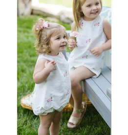 Little English Little English Turtle Bow Back Bloomer Set