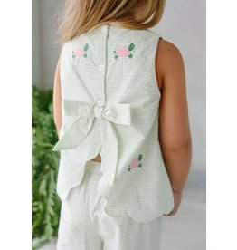 Little English Little English Turtle Bow Back Short Set