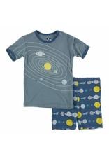 KicKee Pants Kickee Pants Short Sleeve  Print Pajama Set with Shorts