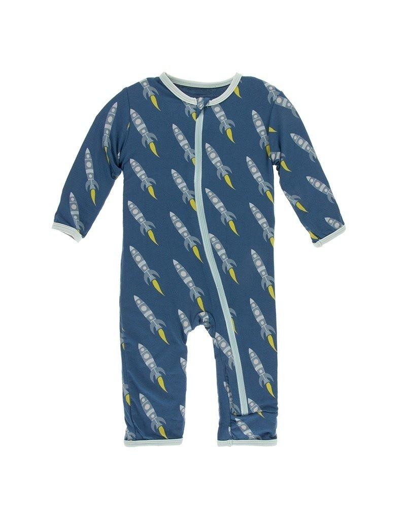 KicKee Pants Kickee Pants Print Coverall with Zipper