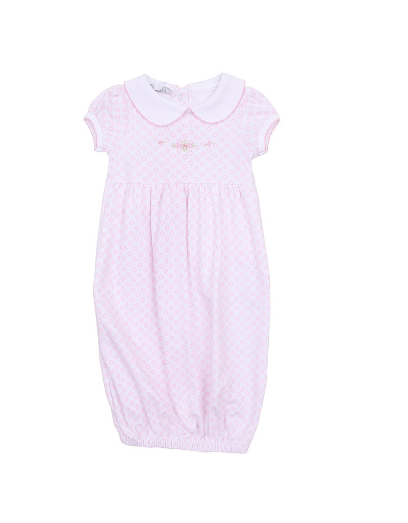 Magnolia Baby Magnolia Baby Hope's Rose Spring Printed Collared Gown