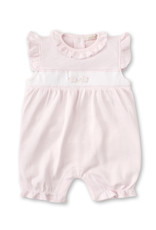 Kissy Kissy Kissy Kissy Premier Cottontails Short Playsuit with Hand Embroidery