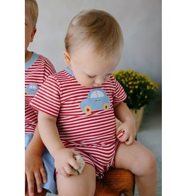 Little English Little English Car Applique Romper