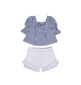 Habitual Girl Habitual Cecelia Stripe Swing Top Set