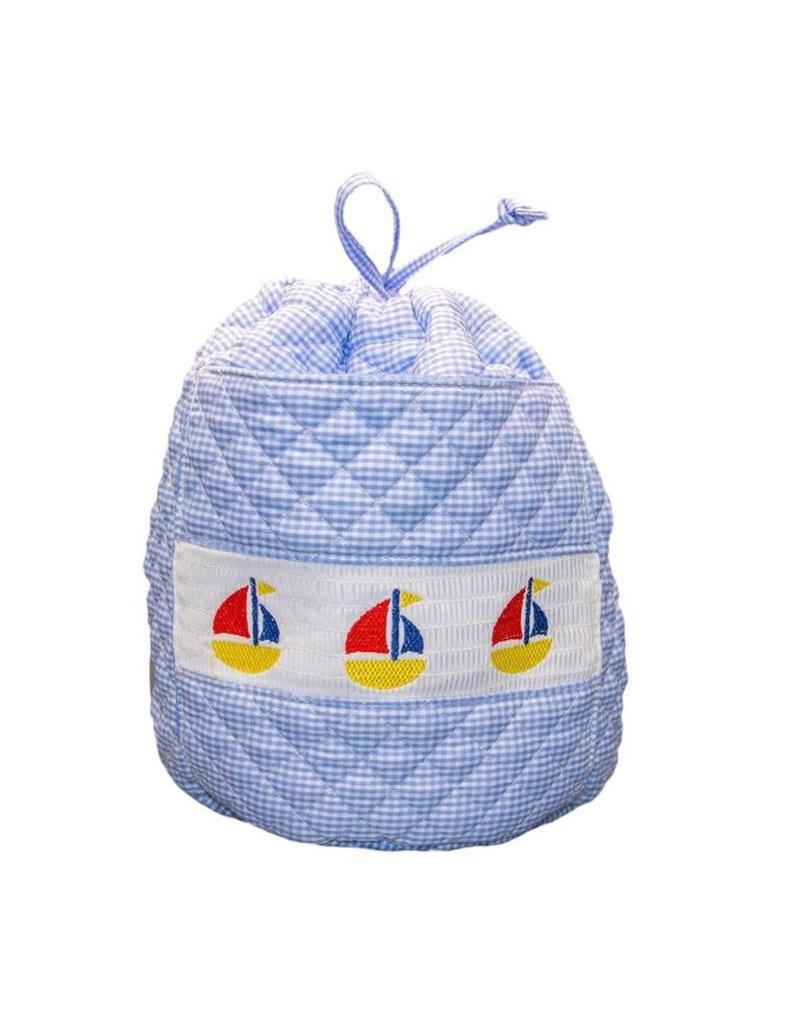 MSC MSC  Smocked Sailboat Ditty Bag