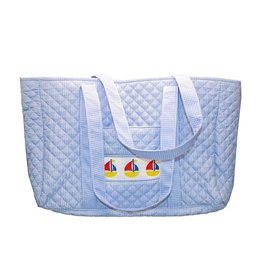 MSC MSC Smocked Sailboat Tote Bag
