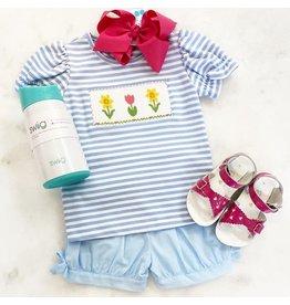 Anavini Anavini Flowers Girl Shorts