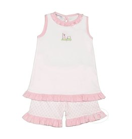 Magnolia Baby Magnolia Baby Putting Around Applique Short Set