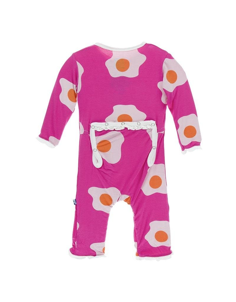KicKee Pants Kickee Pants Muffin Ruffle Coverall with Zipper