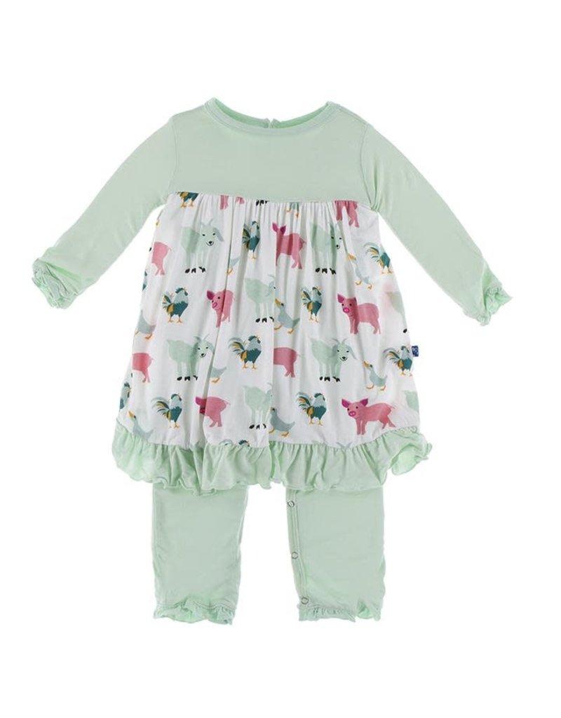 KicKee Pants Kickee Pants Print Long Sleeve Dress Romper