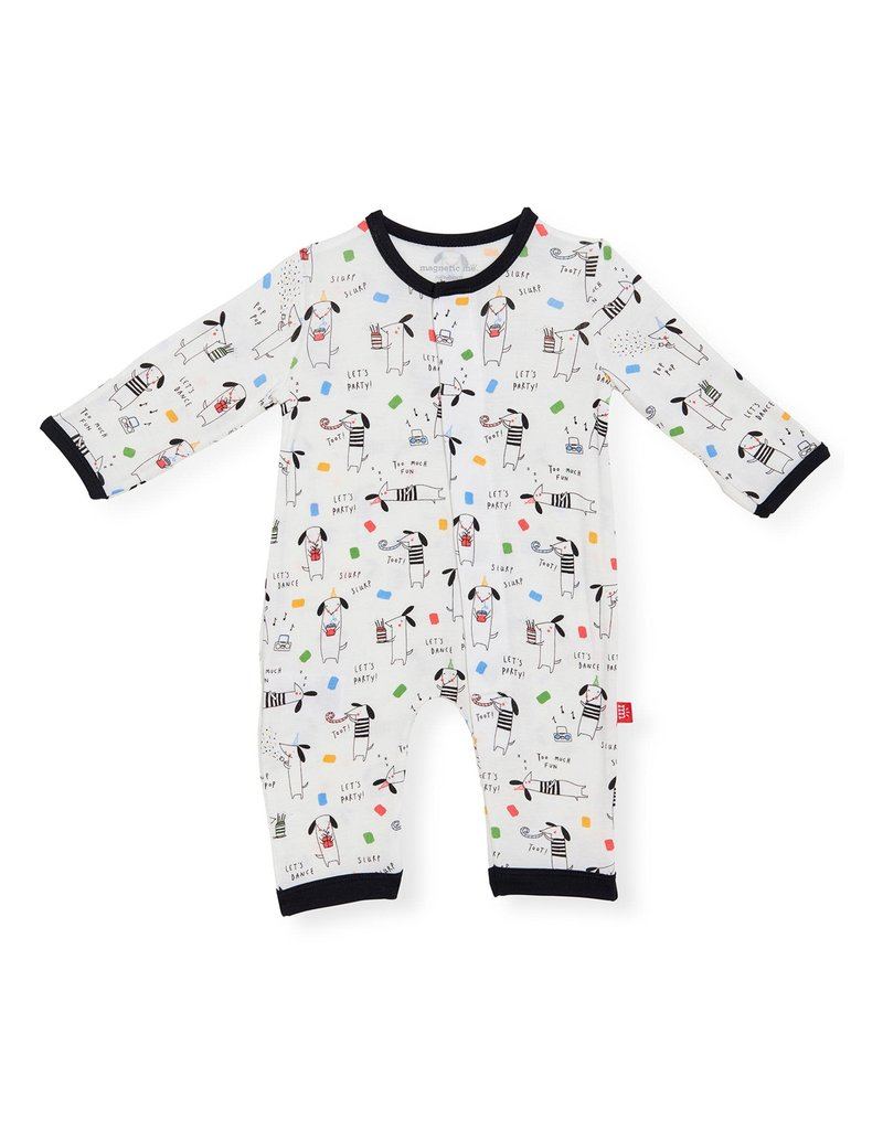 Magnetic me Magnificent Baby Raise The Woof Modal Magnetic Coverall
