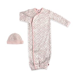 Magnetic me Magnificent Baby Bedford Floral Organic Cotton Magnetic Gown Set
