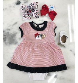 Magnolia Baby Magnoila Baby Love Bulldog Applique Dress set