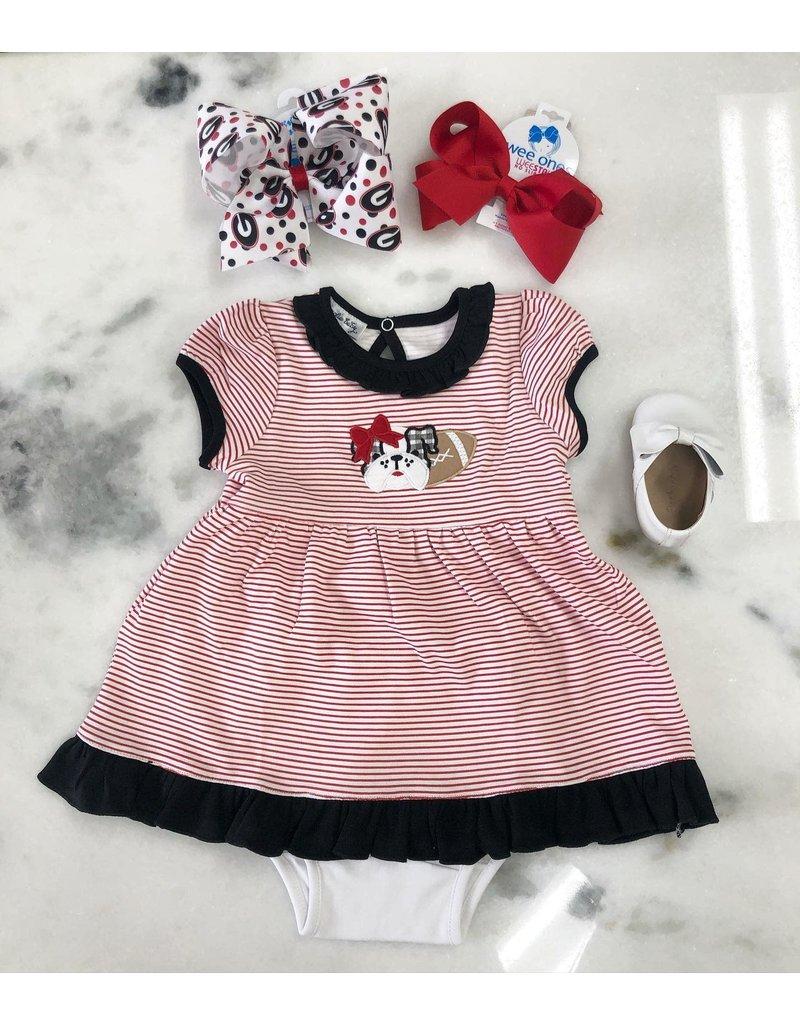Magnolia Baby Magnoila Baby Love Bulldog Applique Dress set